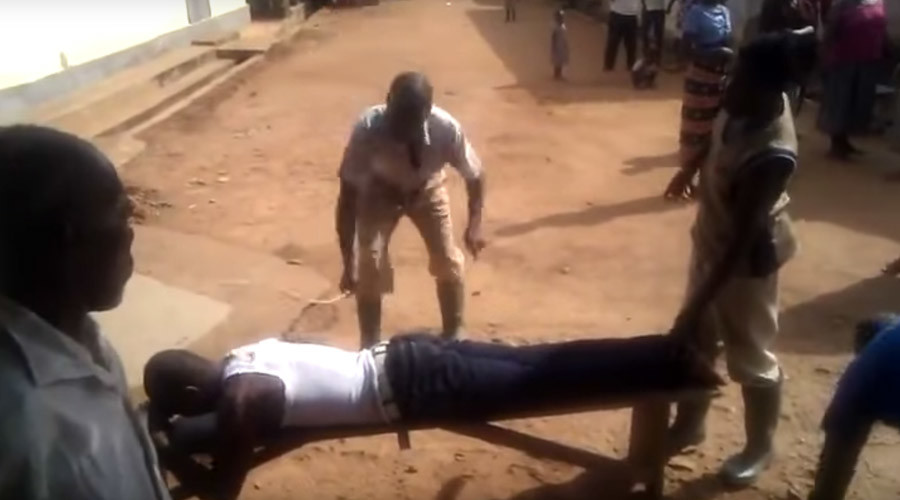 Nigerian flogged in public for alleged adultery (GRAPHIC VIDEO)