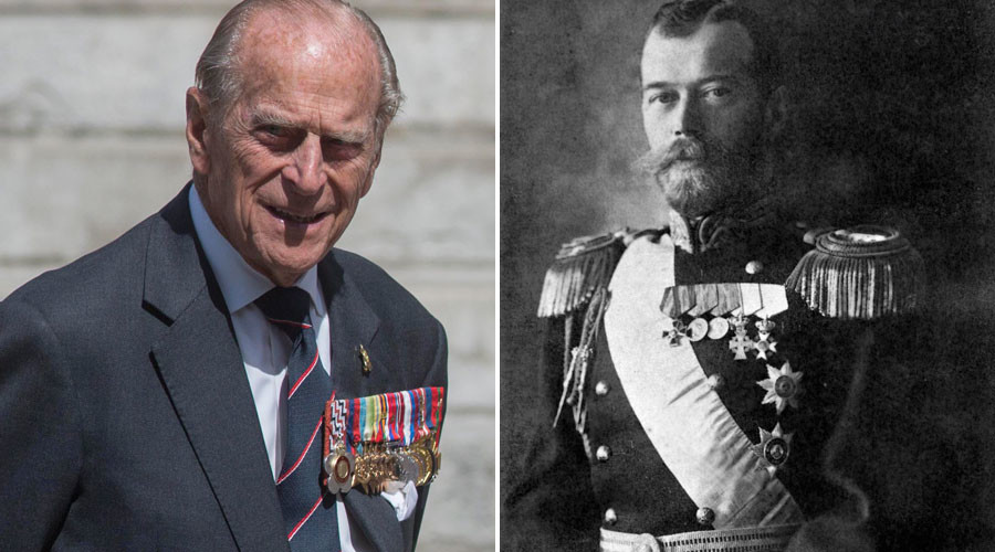 Prince Phillip, Nicholas II in a ceremonial uniform. © Neil Hall, Sputnik
