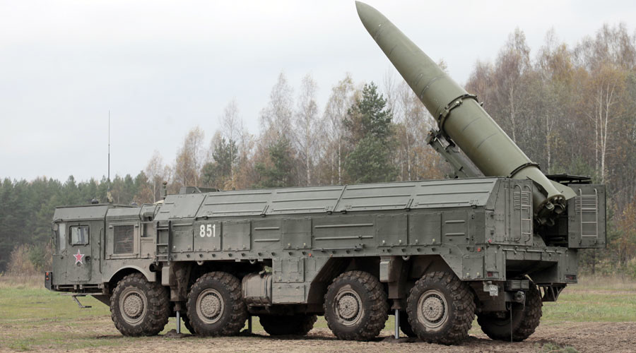 Iskander high-precision missile system in place during military exercises. © Alexei Danichev