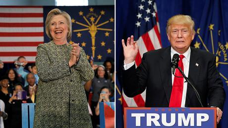 U.S. Democratic presidential candidate Hillary Clinton (L) and U.S. Republican presidential candidate Donald Trump © Reuters