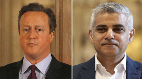 Britain's Prime Minister David Cameron (L), London's Mayor elect, Sadiq Khan. © Reuters