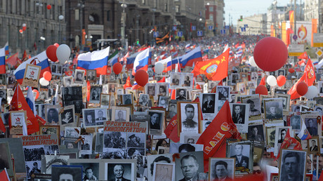 Immortal Regiment marches commemorate WWII heroes, victims