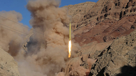 A ballistic missile is launched and tested in an undisclosed location, Iran, March 9, 2016 © Mahmood Hosseini