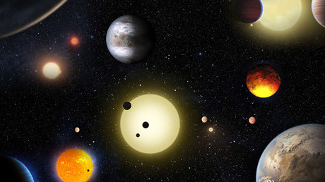 This artist's concept depicts select planetary discoveries made to date by NASA's Kepler space telescope. © W. Stenzel