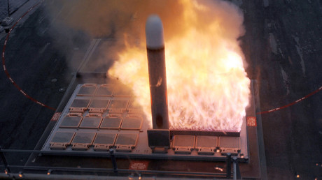 A Tomahawk missile being launched from the Mark 41 Vertical Launching System aboard United States Navy destroyer USS Farragut. File photo. © the United States Navy
