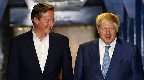 Britain's Prime Minister David Cameron and Mayor of London Boris Johnson. © Luke MacGregor
