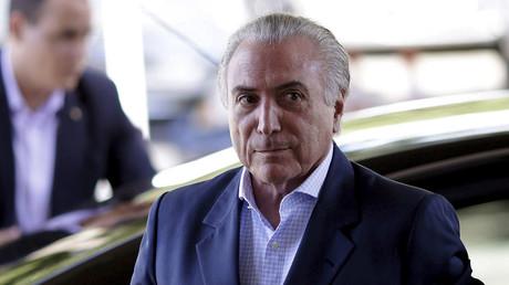 Brazil's interim President Michel Temer. © Ueslei Marcelino