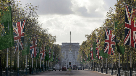 Flags of Britain and Saudi Arabia are flown along The Mall near Buckingham Palace in central London. File photo. © Alessia Pierdomenico