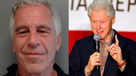 Jeffrey Epstein and former US President Bill Clinton. © Reuters
