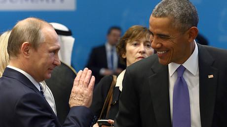 U.S. President Barack Obama (R) and Russia's President Vladimir Putin © Kayhan Ozer