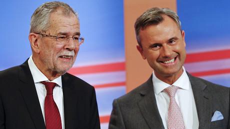 Presidential candidates Alexander van der Bellen (L) and Norbert Hofer © Leonhard Foeger