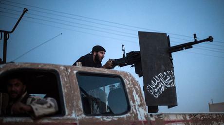 A member of the Islamist Syrian opposition group Ahrar al-Sham. ©Alice Martins
