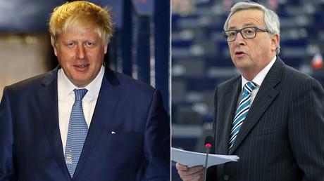 Former Mayor of London Boris Johnson and European Commission President Jean-Claude Juncker © Reuters
