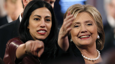 Huma Abedin, aide to Democratic U.S. presidential candidate and former Secretary of State Hillary Clinton. © Jim Young