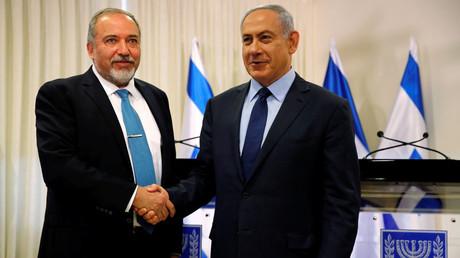 Avigdor Lieberman and Israeli Prime Minister Benjamin © Ammar Awad