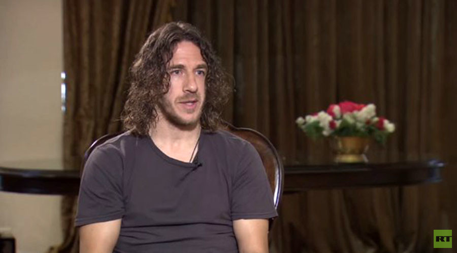 Retired Barcelona and Spanish international footballer Carles Puyol