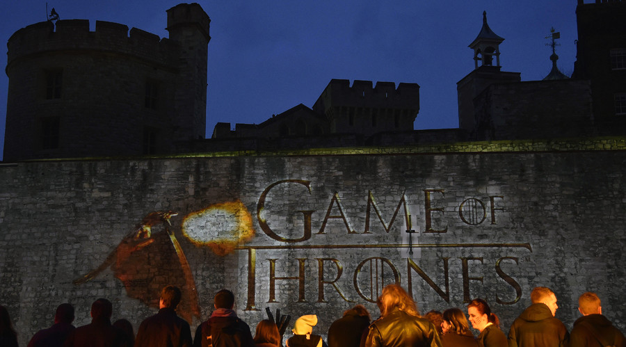 "Fans of the television fantasy drama ""Game of Thrones"" at The Tower of London. © Toby Melville"