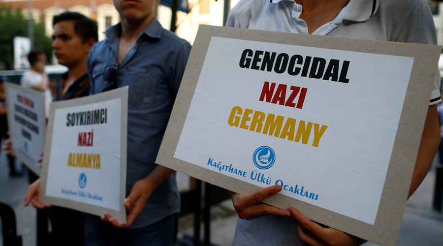 'They burned Jews, now slander us': Protests in Turkey over German motion on genocide (VIDEO)