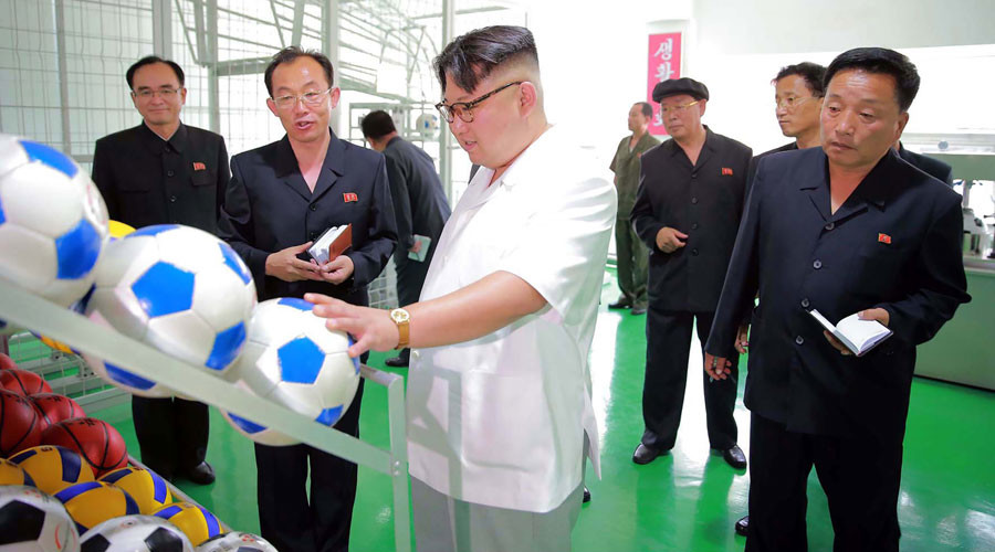 'World-class athletic equipment is very important business for us' - Kim Jong-un