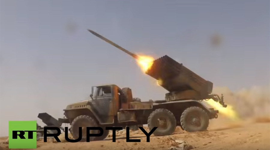 Drone VIDEO shows Syrian Army advance in ISIS-held Raqqa province