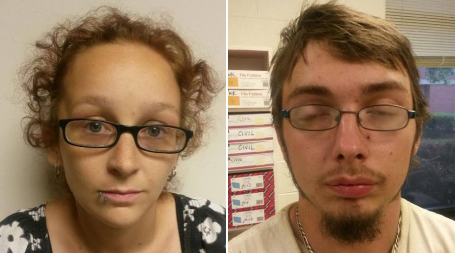 Ashley Harmon and her fiancée Jonathan Flint abandoned the child with her neighbor. © Fayette County Sheriff's Department