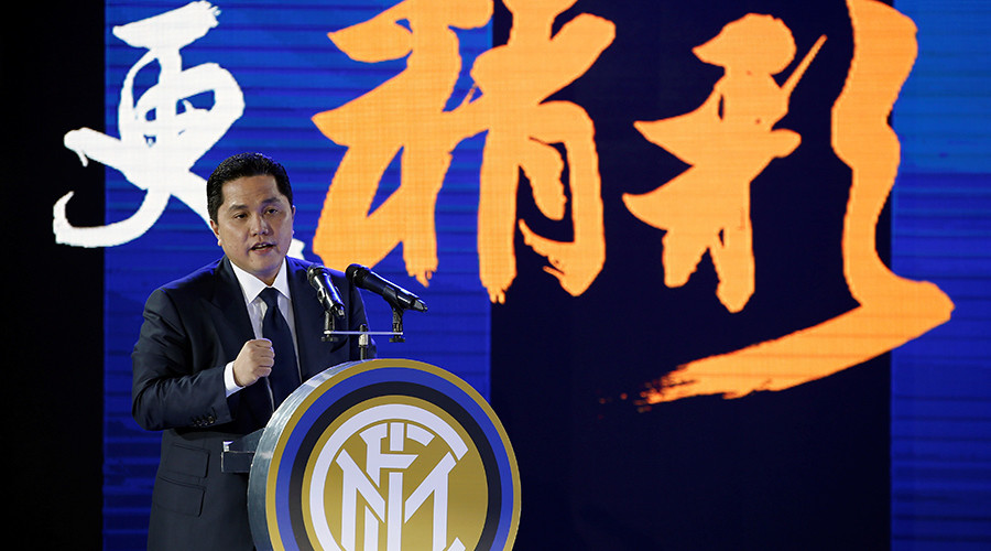 Chinese electronics giant buys majority stake in Inter Milan