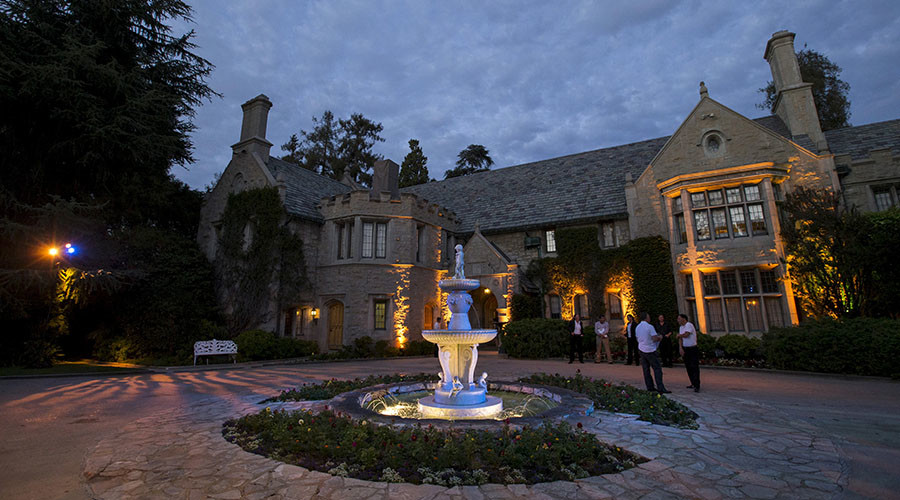 A general view of the Playboy Mansion in Los Angeles, California. © Mario Anzuoni