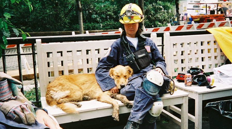Firefighters give hero's farewell to last remaining 9/11 rescue dog (PHOTOS, VIDEO)