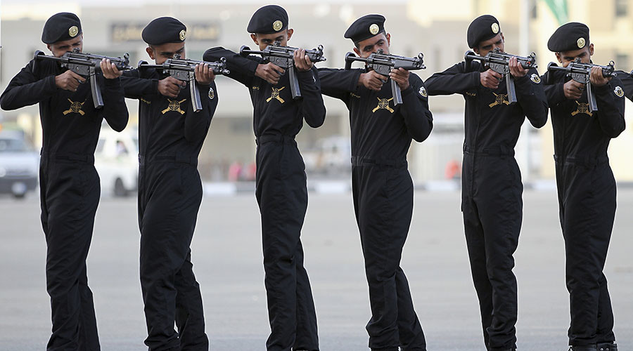 Members of the Saudi police force. ©Hassan Ali