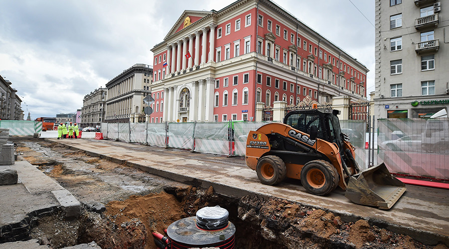 Moscow as you've never seen it: Main street near Kremlin ripped apart for renovation (PHOTOS)