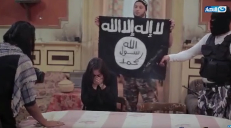Egyptian TV station plays ISIS suicide belt 'prank' on sobbing actress (VIDEO)