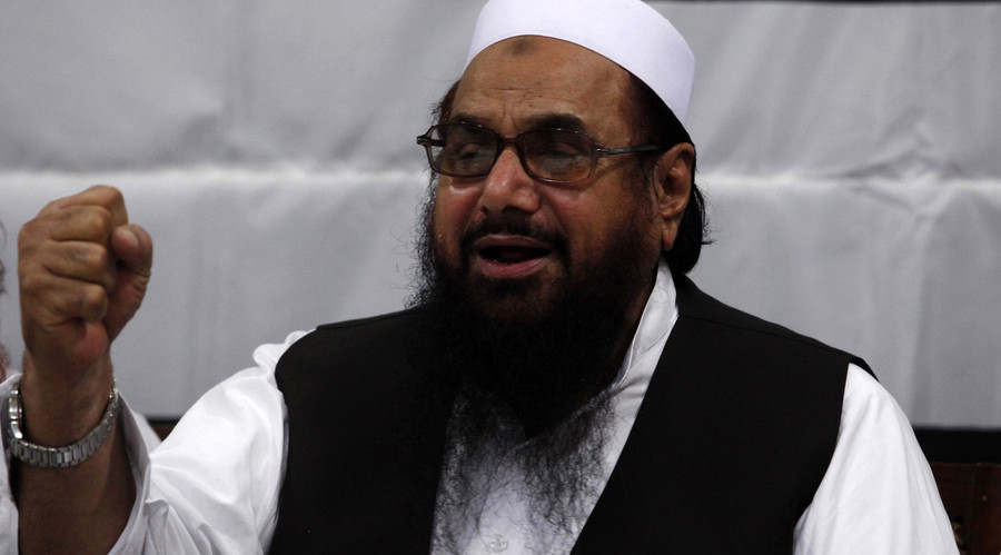 Hafiz Saeed, head of the Jamaat-ud-Dawa organisation and founder of Lashkar-e-Taiba (LET). © Mohsin Raza