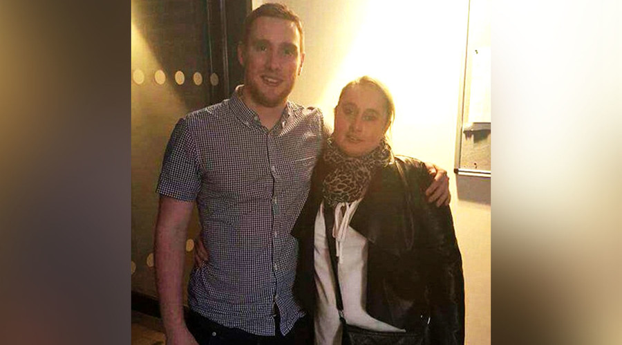 Shane Burke poses with his birth mother Rose Bestall following their reunion. © Facebook