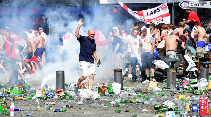 Chairs flying, café burning, angry scenes: 10 videos of hooligans hijacking Euro 2016