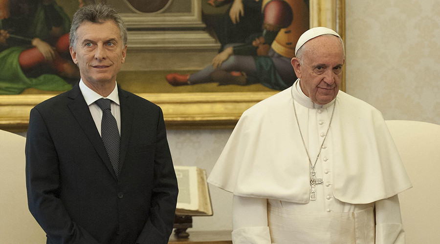 Pope Francis (R) meets the President of Argentina Mauricio Macri © Giorgio Onorati
