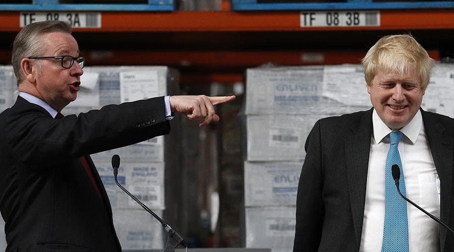 Former London Mayor Boris Johnson and Justice Secretary Michael Gove. ©Phil Noble
