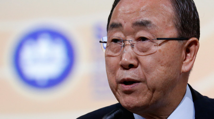 UN's Ban Ki-moon notes Russia's crucial role in solving intl conflicts, as Ukraine fumes
