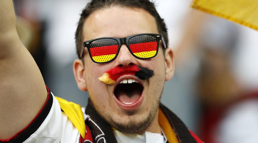 Germany fan before the match. © Darren Staples