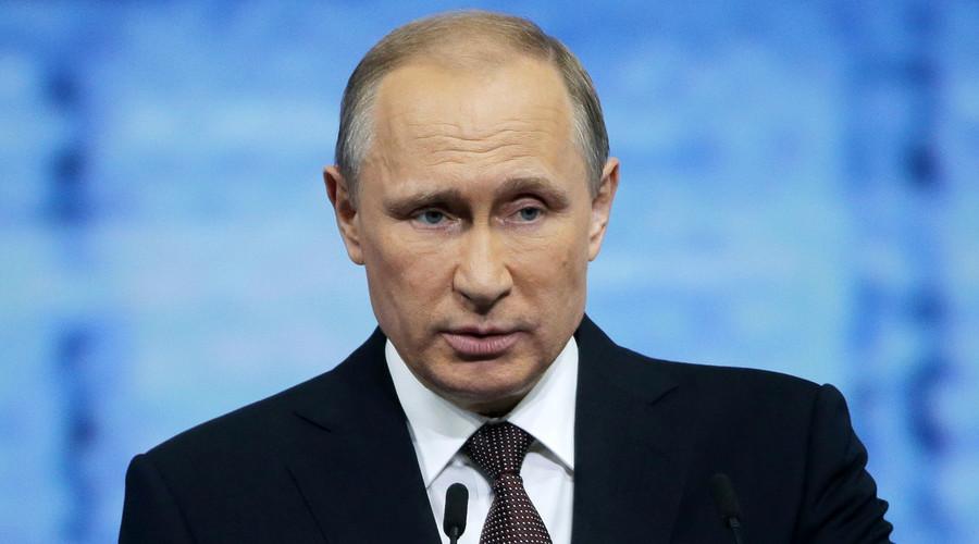 الرئيس الروسي فلاديمير بوتين في المنتدى الاقتصادي الدولي 20 سان بطرسبرج في سان بطرسبرج، روسيا، 17 يونيو، 2016. © ميخائيل Metzel / تاس