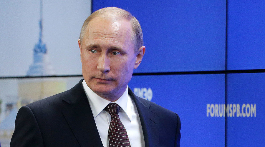 Russia's President Vladimir Putin at the 20th St. Petersburg International Economic Forum in St. Petersburg, Russia, June 17, 2016. © Mikhail Metzel / TASS