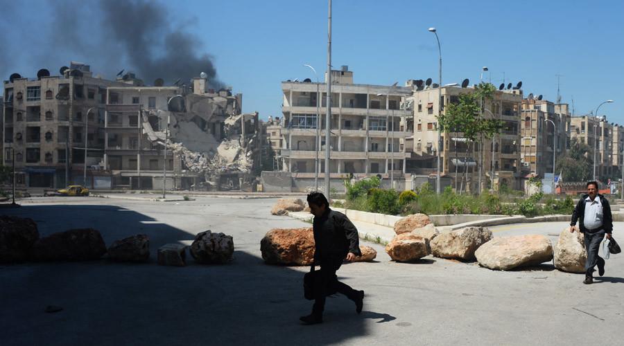Militants shell a district in Aleppo. © Mikhail Voskresenskiy