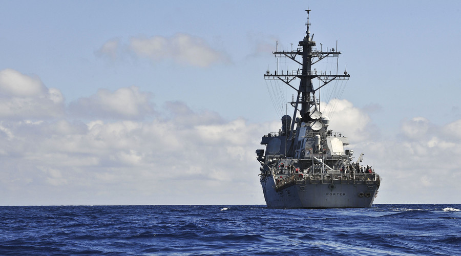 The guided missile-destroyer USS Porter. © U.S. Navy photo
