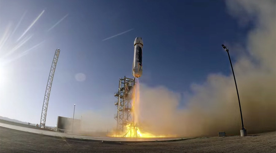 Blue Origin rocket completes 'picture perfect' 4th test launch and landing (VIDEO, PHOTOS)