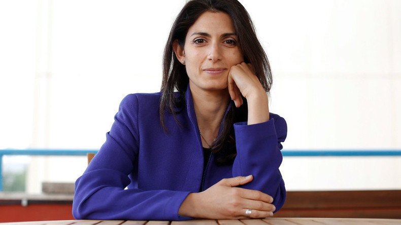 Virginia Raggi, the anti-establishment 5-Star Movement's candidate for Rome mayor. © Tony Gentile