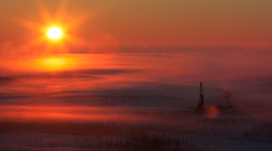 An aerial view shows Rosneft's Vankor oil field in eastern Siberia, some 2,800 km (1,740 miles) east of Moscow © Sergei Karpukhin