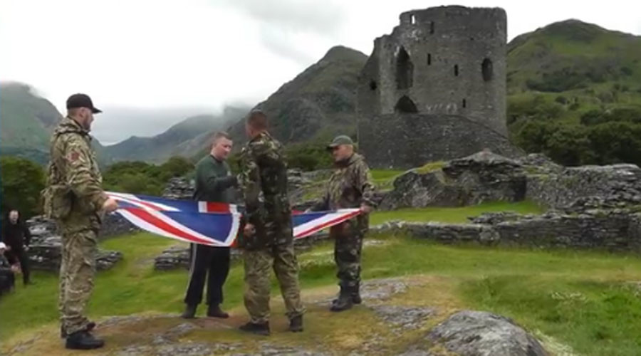 Far-right Britain First holds 'activist training camp' in remote Welsh mountains (VIDEO)