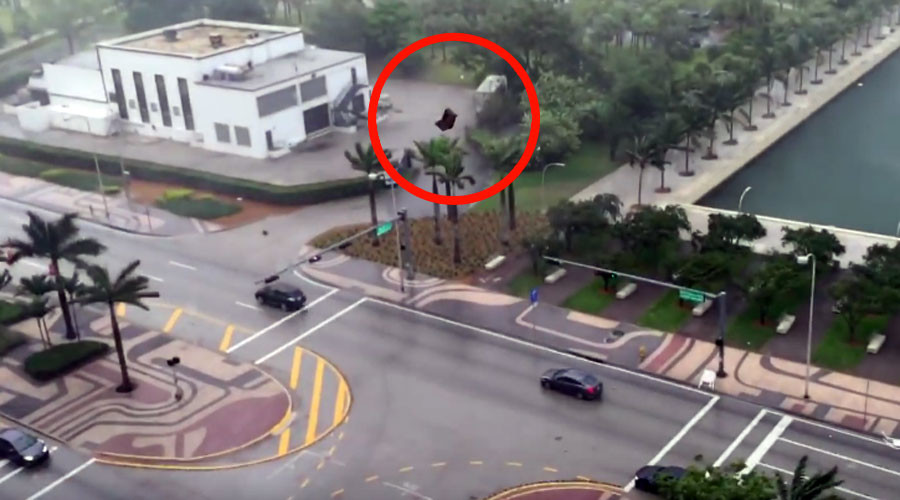 Take cover, it's raining furniture in Miami (VIDEO)