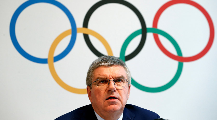 اللجنة الأولمبية الدولية (IOC) الرئيس توماس باخ يعطي مؤتمر صحفي بعد قمة الأولمبية على المنشطات في لوزان، سويسرا، 21 يونيو، 2016. © دينيس Balibouse