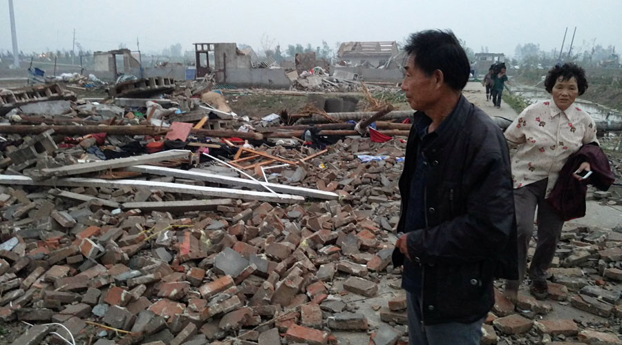 78 killed as storm rips through eastern China  (PHOTOS)