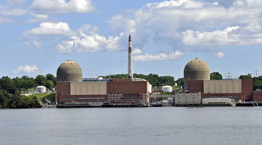 Entergy's Indian Point Energy Center (IPEC) seen from across the Hudson River, 	Buchanan, New York. © Tony